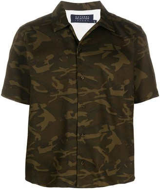 Natural Selection Oversized Camouflage-Print Shirt