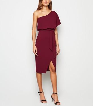 New Look One Shoulder Belted Dress