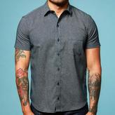 Blade + Blue Navy Blue Japanese Wave Print Short Sleeve Shirt - Ziggy