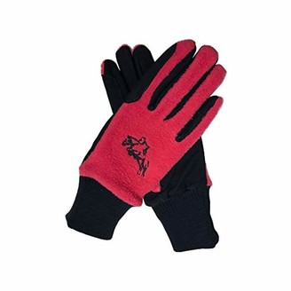 Hy5 Childrens Winter Two Tone Riding Gloves Black/Purple Child Large