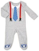 Vitamins Baby Baby Boy Tie & Suspenders Coverall
