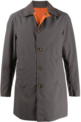 Barba Long Sleeve Single Breasted Coat