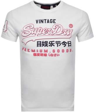 Superdry Vintage Premium Goods Logo T Shirt White