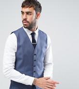 Reiss Slim Waistcoat In Blue