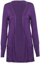 Purple Hanger PurpleHanger Women's Long Sleeve Open Cardigan Top Plus Size 16-18
