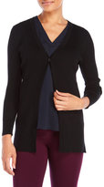 Cable & Gauge V-Neck One-Button Ribbed Cardigan