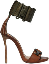 DSQUARED2 120mm Crocodile Embossed Leather Sandals