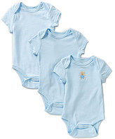 Little Me Baby Boys Newborn-9 Months Cute Bear 3-Pack Bodysuits