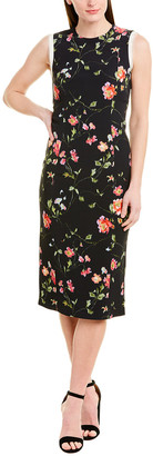 Jason Wu Collection Jason Wu Floral Silk-Trim Wool-Blend Midi Dress