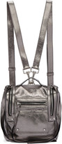 McQ Silver Mini Convertible Box Backpack