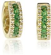 Effy Jewelry Effy Brasilica 14K Yellow Gold Emerald and Diamond Earrings, 1.07 TCW