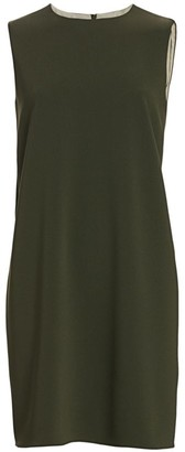 Theory Crepe Sleeveless Shift Dress