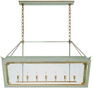 Julie Neill For Visual Comfort Caddo Lantern - Celadon With Gild