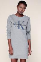 Calvin Klein Robe Sweat Gris Chiné