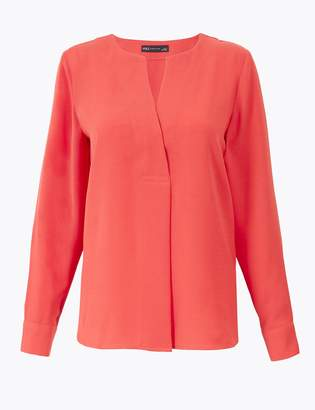 M&S CollectionMarks and Spencer V-Neck Popover Blouse