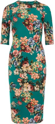 Alice + Olivia Delora fitted floral dress