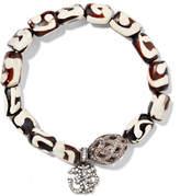 Loree Rodkin Oxidized Sterling Silver, Wood And Diamond Bracelet - Cream