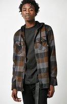 Vans Nevermind Hooded Plaid Flannel Long Sleeve Zip Shirt