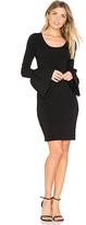 Elizabeth and James Willomina Bell Sleeved Dress in Black