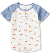 Egg by Susan Lazar Baby/Little Boys 12 Month-4T Zack Scuba-Printed Henley Tee