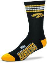For Bare Feet Men's Iowa Hawkeyes Deuce Striped Crew Socks