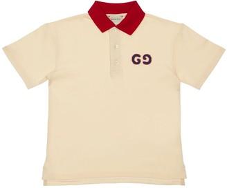 Gucci Cotton Piquet Polo W/ Logo