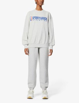 Sporty & Rich Team logo-print high-rise cotton jogging bottoms