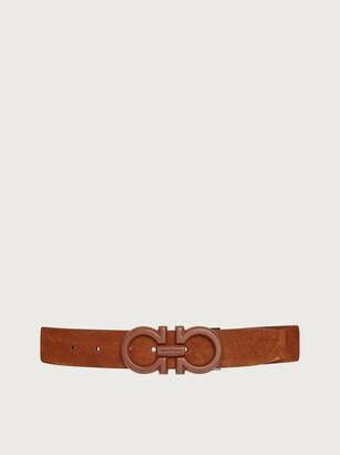 Salvatore Ferragamo Men Adjustable Gancini belt Brown