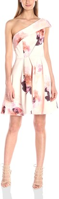Keepsake The Label Women's Cold-Shoulder Floral Print Mini Dress