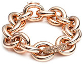 Eddie Borgo Rose Gold Pave-Link Chain Bracelet