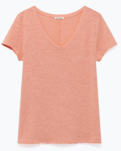 American Vintage Pink Sonoma Short Sleeve T Shirt - Large - Pink