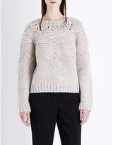 Helmut Lang Hand-knit wool-blend jumper