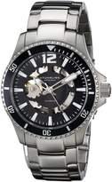 Stuhrling Original Men's 772.01 Aquadiver Regatta Makran Automatic Self Wind Dial Stainless Steel Bracelet Watch