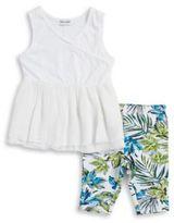Splendid Baby Girl's Surplice Tunic and Palm Print Shorts