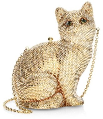 Judith Leiber Couture Cat Morris Crystal Clutch