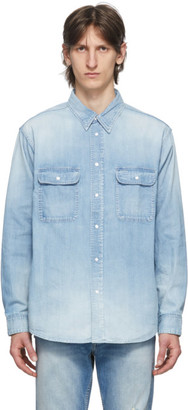 Visvim Blue Damaged Handyman Shirt