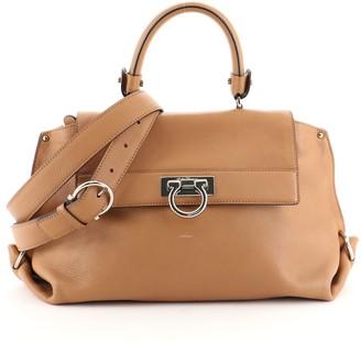 Salvatore Ferragamo Sofia Satchel Smooth Leather Medium