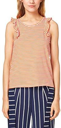 Esprit edc by Women's 068cc1k014 T-Shirt, (Red Orange 825), Medium