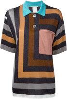 Marco De Vincenzo striped lurex blouse - women - Polyamide/Polyester/Acetate - 46