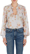 Marc Jacobs Women's Floral Cotton-Silk Gauze Blouse