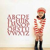 MairGwall Alphabet Wall Decal Vinyl Children Nursery Alphabet Art Sticker D ̈¦cor