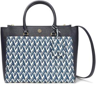 Tory Burch Printed Leather Tote