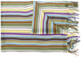 Missoni striped fringed scarf - women - Viscose - One Size