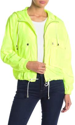 Report Know One Cares Lightweight Cargo Pocket Hooded Zip Jacket