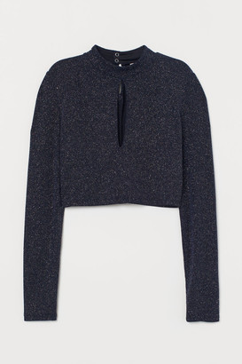 H&M Top with Stand-up Collar - Black