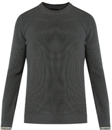 Lanvin Striped-cuff Cotton And Wool-blend Sweater