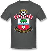 Fire-Dog-Custom Tees Men's Southampton Fc Logo Short Sleeve 100% Cotton T-shirt Size XL DeepHeather
