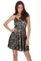 AX Paris Black and Nude Strappy Skater Dress