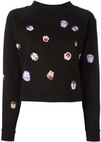 Christopher Kane flower panel sweatshirt - women - Cotton/Viscose - XS
