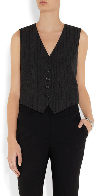 Marc Jacobs Pinstriped wool and cotton-blend vest